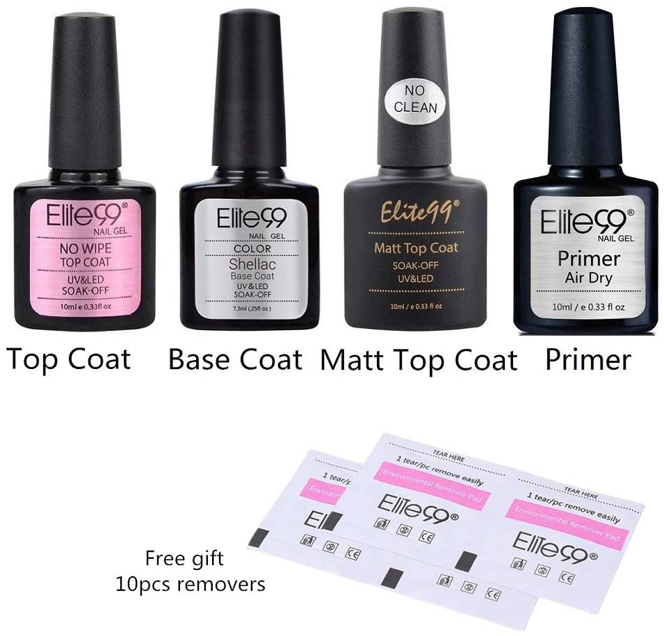 Set primer, top coat e remover Elite99